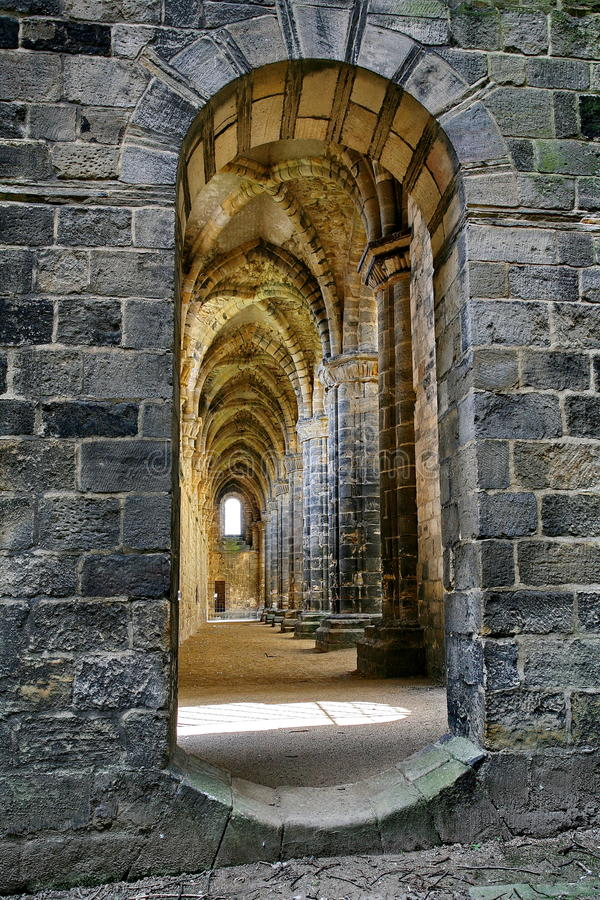 Abbaye de Kirkstall, Yorkshire du nord photo stock
