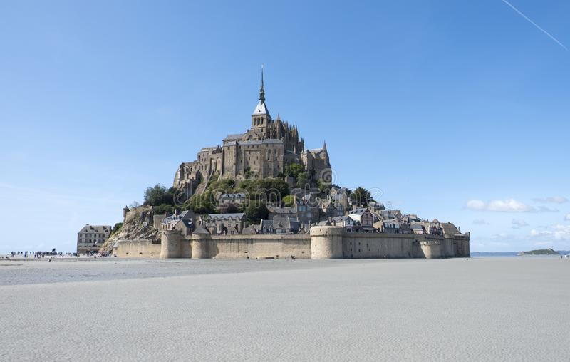 Abbaye de Mont St Michel Vue de le célèbre Mont Saint-Michel, Brittany Normandy France photographie stock