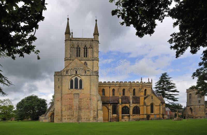 Abbaye de Pershore et église de rue Andrews images stock
