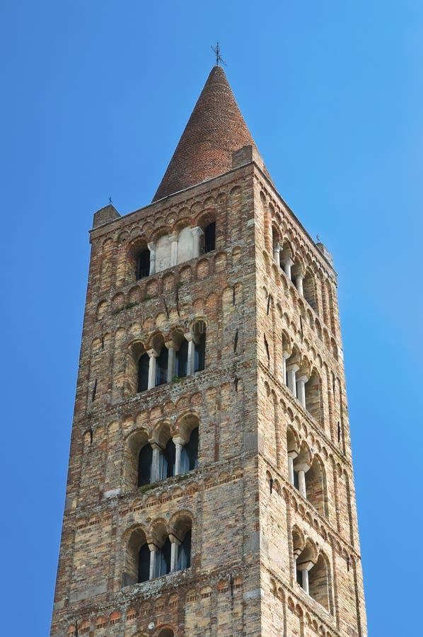 Abbaye de Pomposa. Codigoro. Émilie-Romagne. L'Italie. photos libres de droits