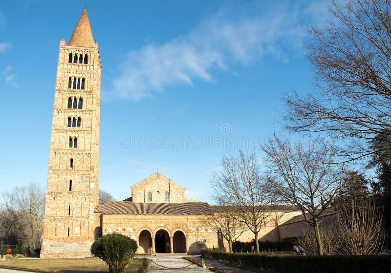 Abbaye de Pomposa Italie Panorama image stock