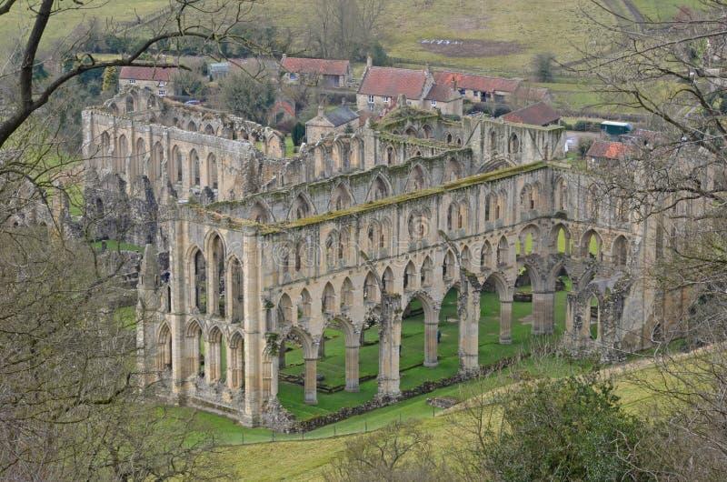 Abbaye de Rievaulx photo stock