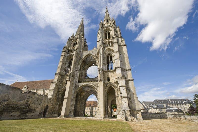Abbaye de Rue-Jean-DES Vignes dans Soissons photo libre de droits