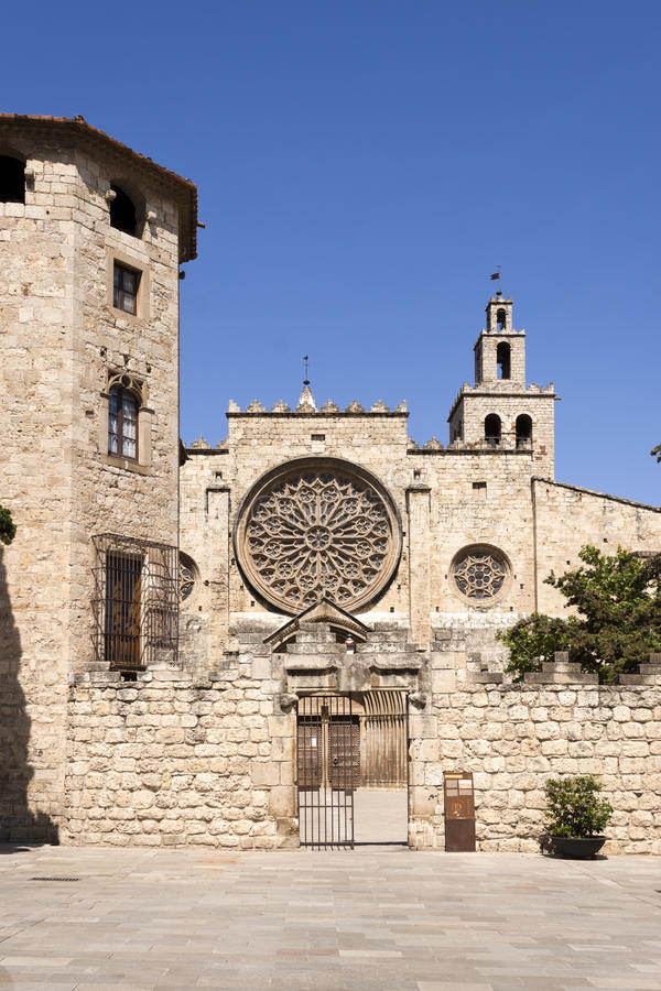 Abbaye de Sant Cugat photos libres de droits
