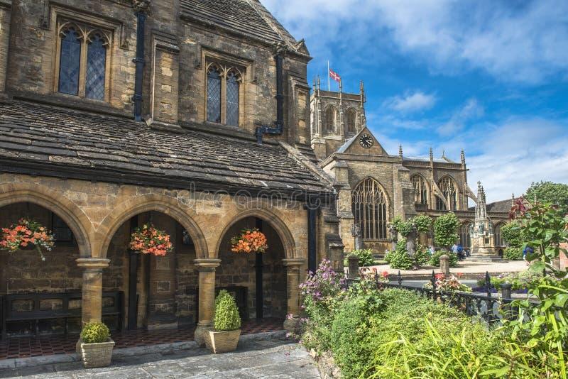 Abbaye de Sherborne, Dorset, Angleterre, R-U photo stock