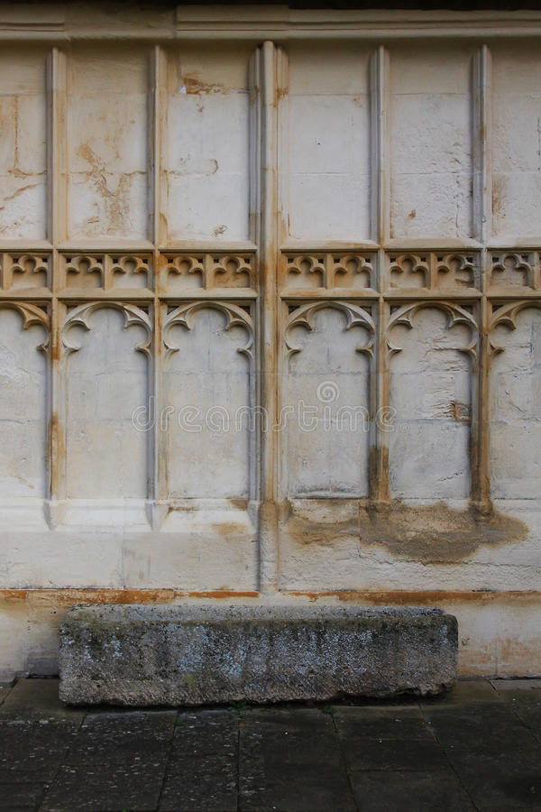 Abbaye de Tewkesbury, Angleterre, détail architectural photographie stock