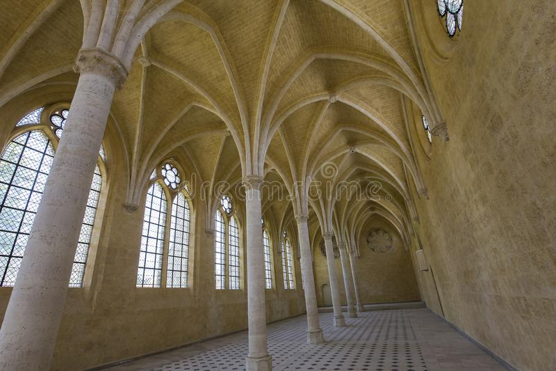 Abbaye de vignes de DES de Jean de saint, Soissons, France images libres de droits