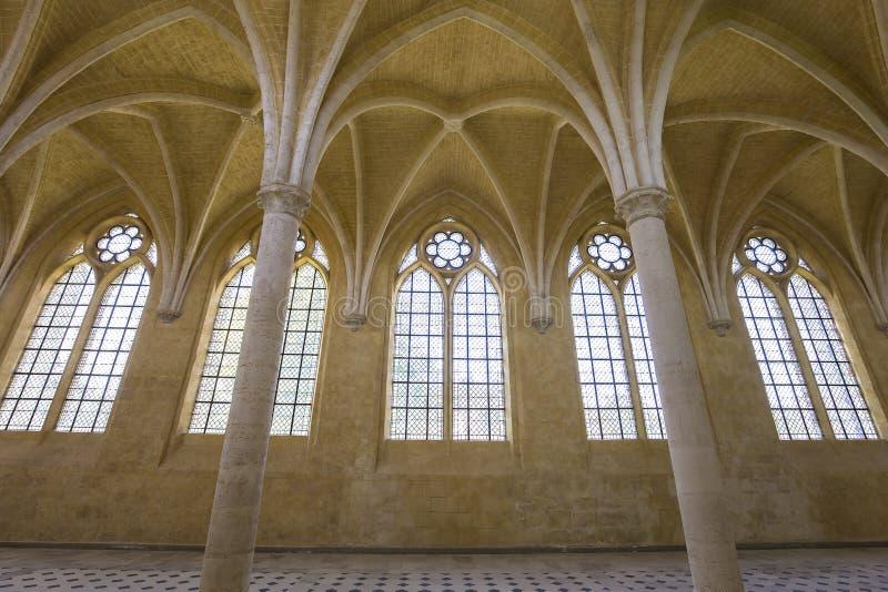 Abbaye de vignes de DES de Jean de saint, Soissons, France image libre de droits