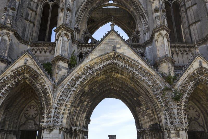 Abbaye de vignes de DES de Jean de saint, Soissons, France images stock