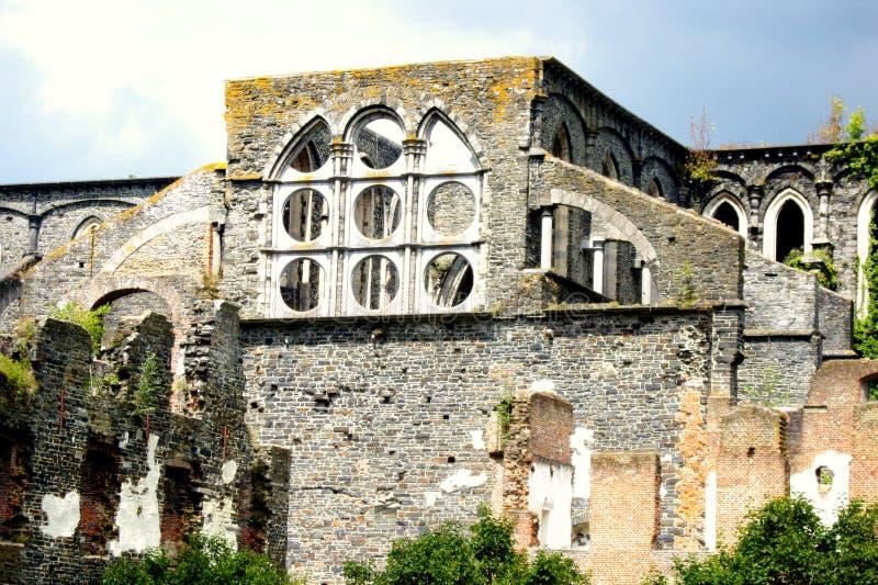 Abbaye de Villers laville Belgien arkivbilder