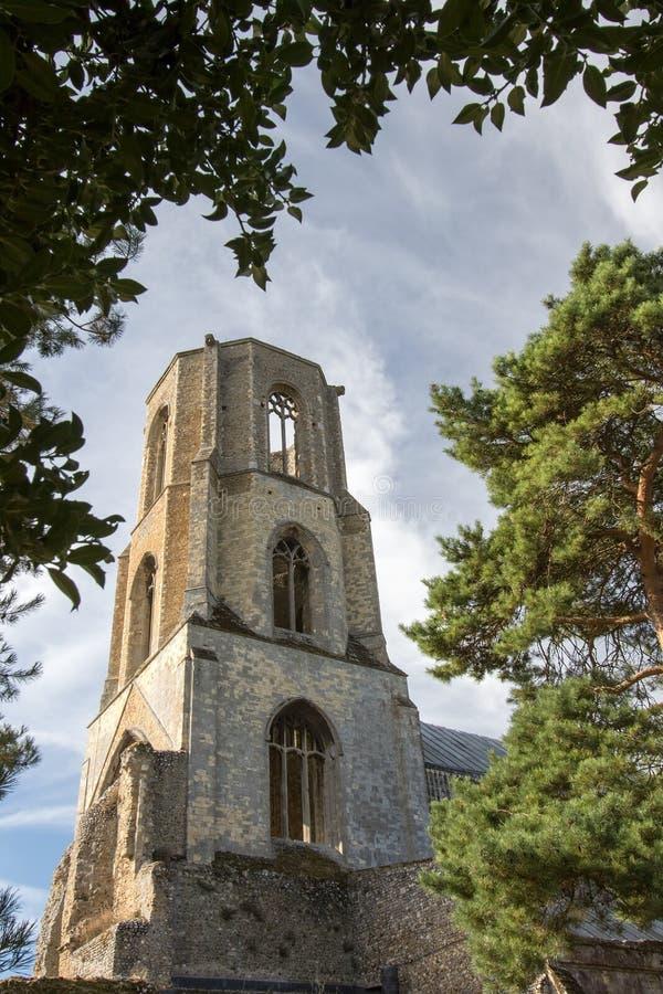 Abbaye de Wymondham ruines Monastère bénédictin, architecture historique anglaise image libre de droits