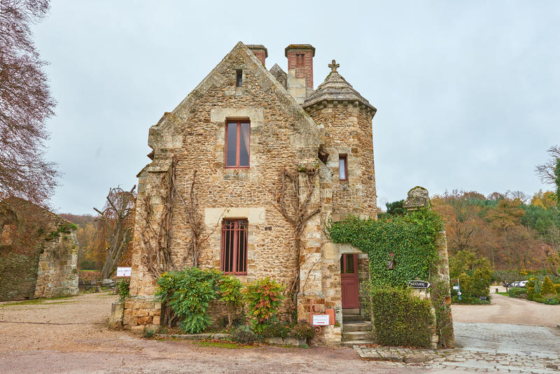 Abbaye des Vaux de Cernay stock image