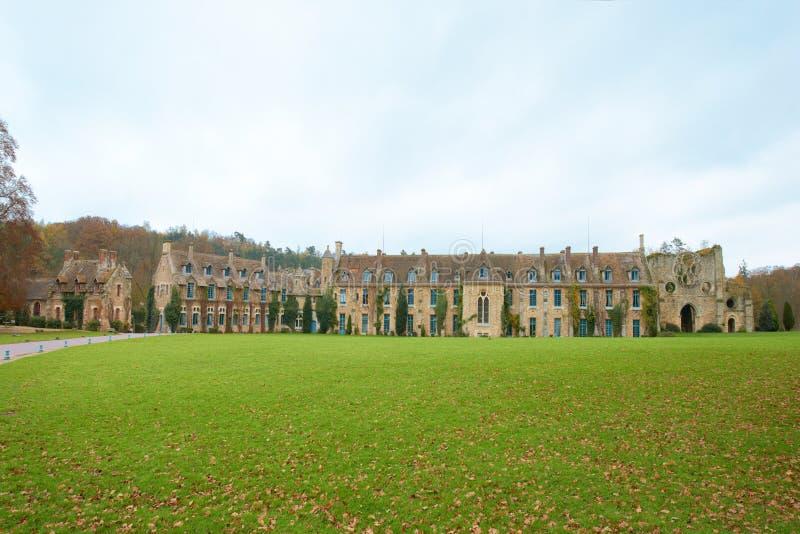 Abbaye des Vaux de Cernay royalty free stock photos