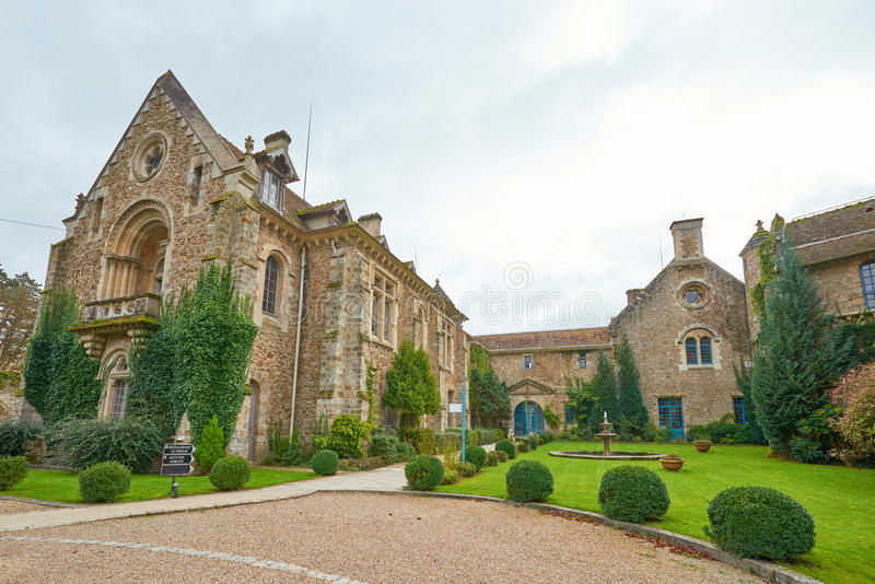 Abbaye des Vaux de Cernay royalty free stock image