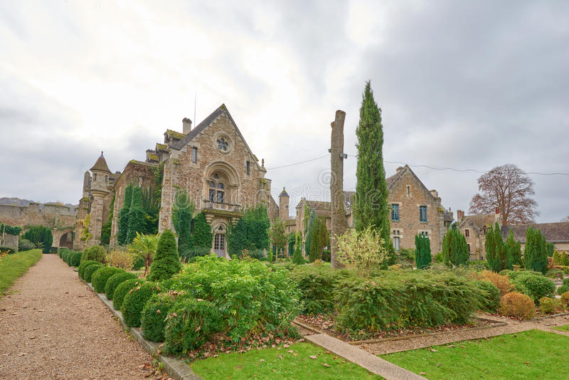 Abbaye des Vaux de Cernay stock photo