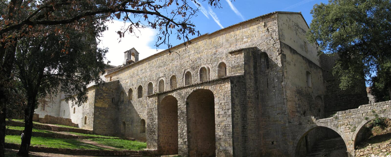 abbaye du thoronet 库存照片