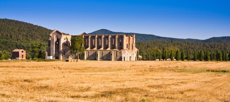 Abbaye Toscane, Italie de San Galgano photo stock