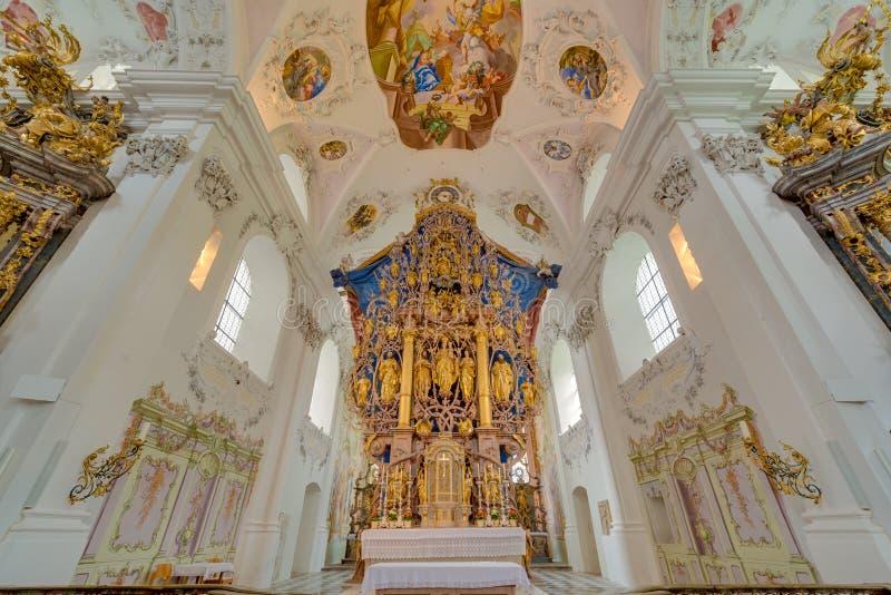 Abbazia Cistercense di Stams in Imst, Austria fotografia stock libera da diritti
