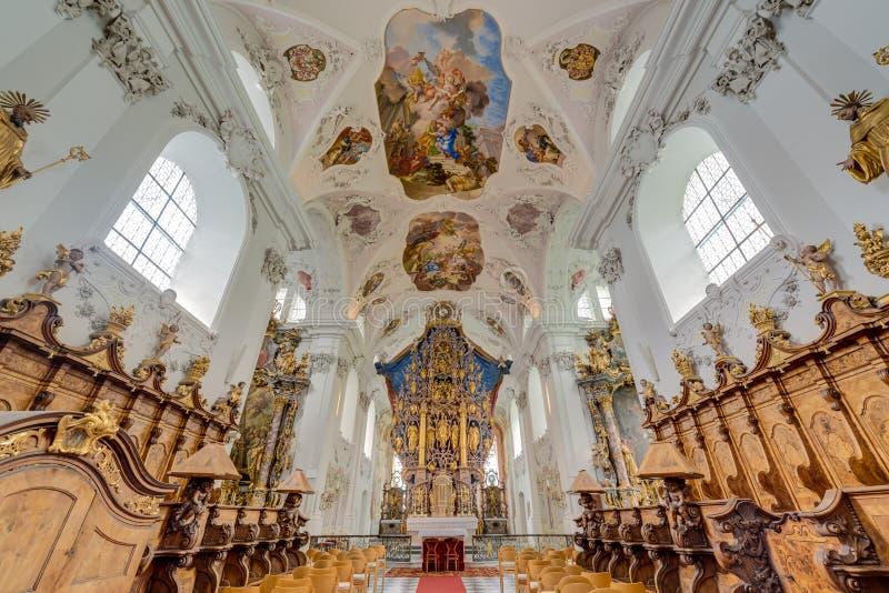 Abbazia Cistercense di Stams in Imst, Austria immagine stock libera da diritti