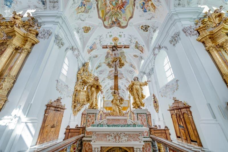 Abbazia Cistercense di Stams in Imst, Austria immagini stock