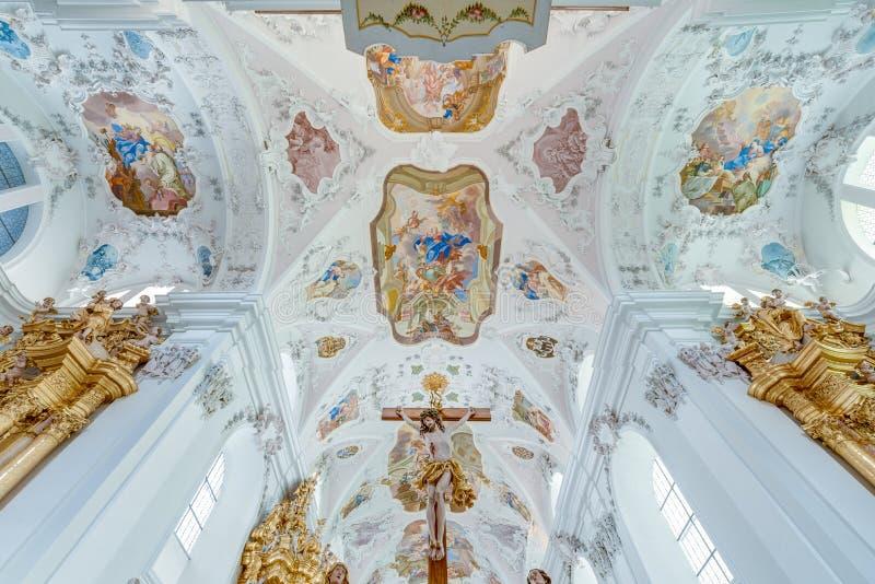 Abbazia Cistercense di Stams in Imst, Austria fotografie stock