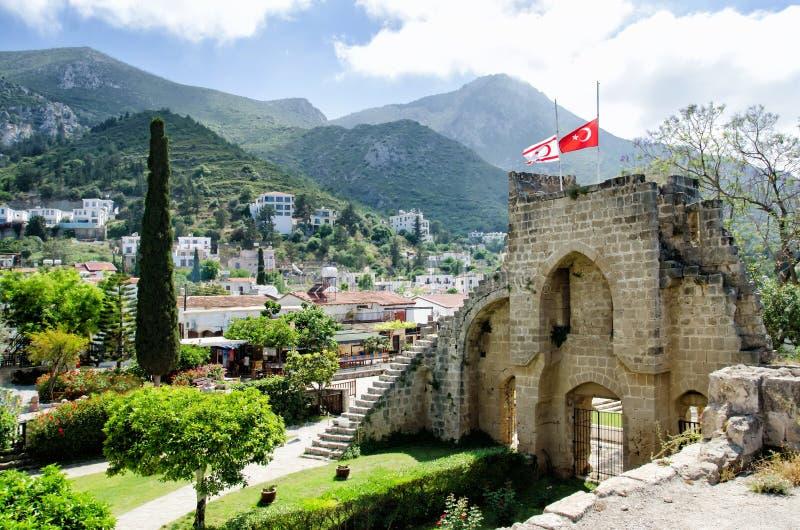 Abbazia di Bellapais nel monastero nordico di Bellapais - del Cipro - punti di riferimento del Cipro fotografie stock libere da diritti