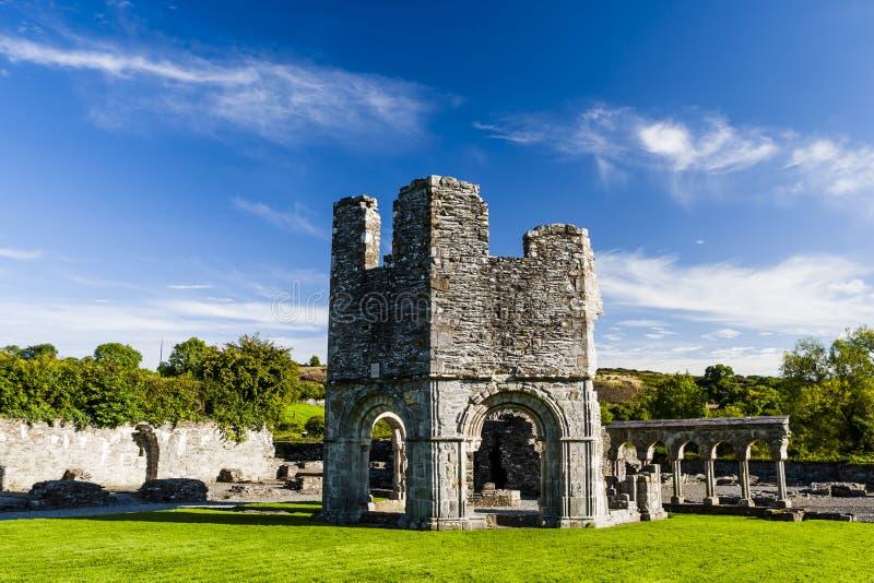 Abbazia di Mellifont, Drogheda, contea Louth, Irland immagini stock libere da diritti