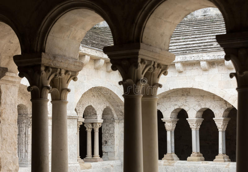 Abbazia di Montmajour vicino a Arles, Francia fotografia stock libera da diritti