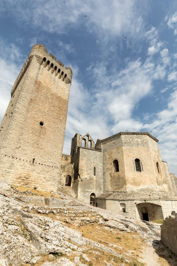 Abbazia di Montmajour vicino a Arles Provenza Francia fotografia stock