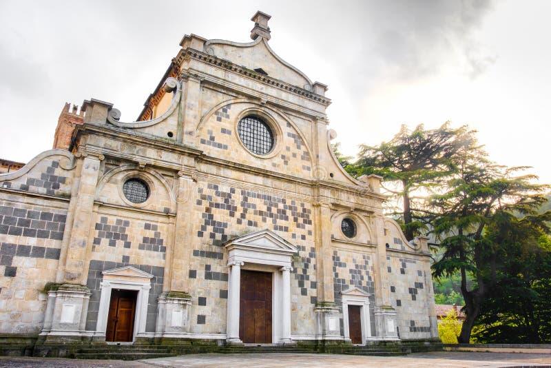 Abbazia di Praglia门面Praglia修道院Euganean小山-垫 库存照片