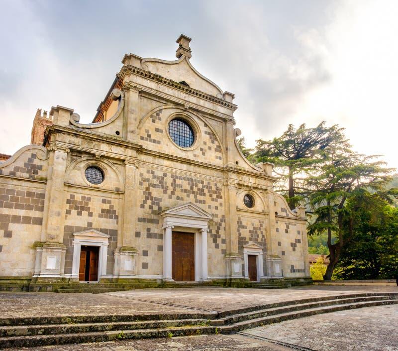 Abbazia di Praglia Praglia修道院-帕多瓦- Euganean小山彻尔 免版税库存照片