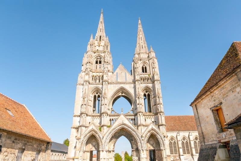 Abbazia di Saint Jean des Vignes immagine stock
