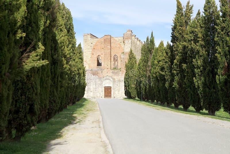 Abbazia di San Galgano, Toscana, Italia immagine stock libera da diritti