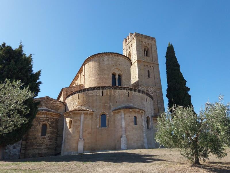 Abbazia di Sant Antimo in Montalcino fotografie stock