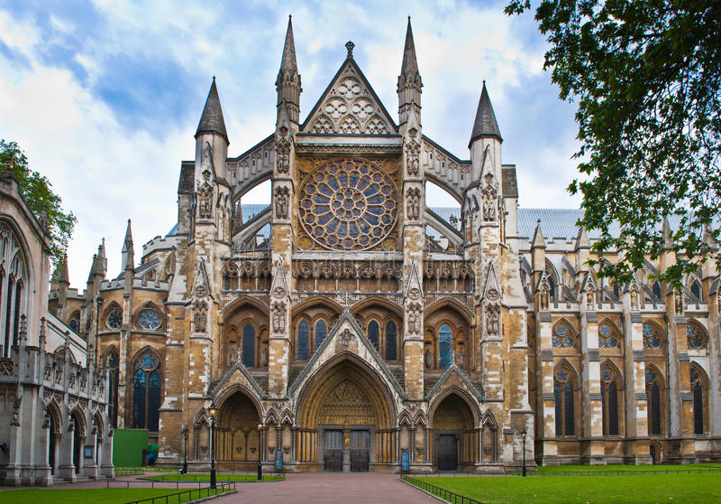 Abbazia di Westminster a Londra fotografie stock