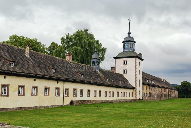 Abbazia imperiale di Corvey, Germania fotografia stock libera da diritti