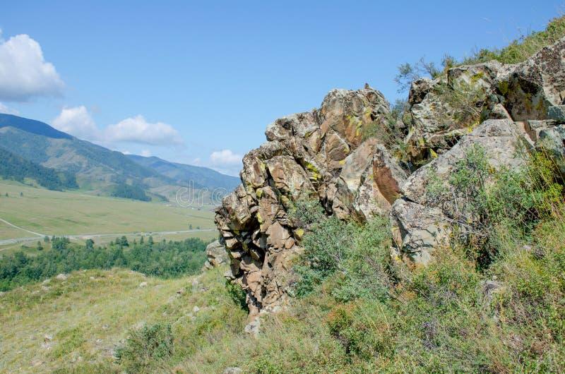 Abbellisca la montagna in montagna Altai bello immagine stock libera da diritti