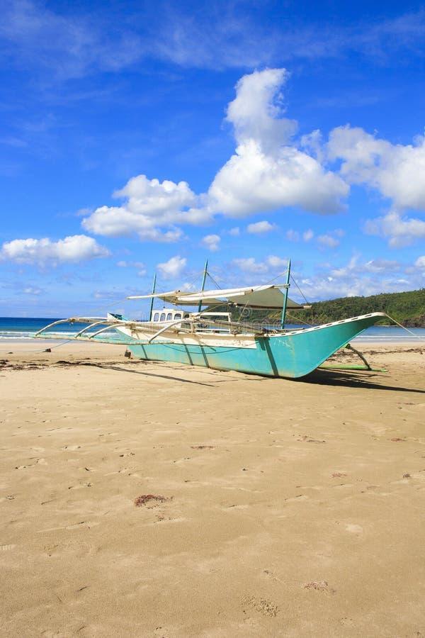 Abbellisca la spiaggia di Nacpan L'isola di Palawan fotografia stock
