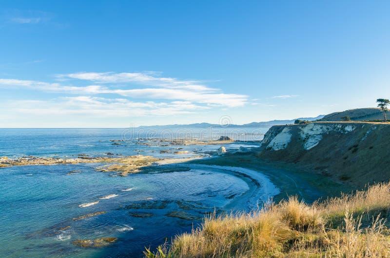 Abbellisca la vista dal punto Kean Viewpoint, Kaikoura Nuova Zelanda fotografie stock libere da diritti