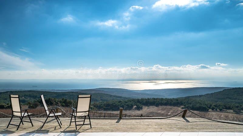 Abbellisca la vista della città di Tekirdag in Turchia fotografia stock