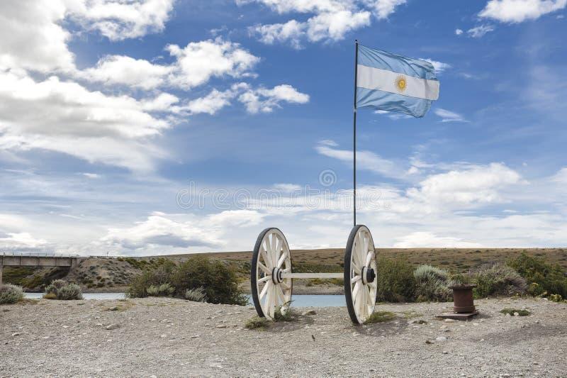 Abbellisca la vista sulla ruta 40 nella Patagonia, Argentina fotografia stock libera da diritti