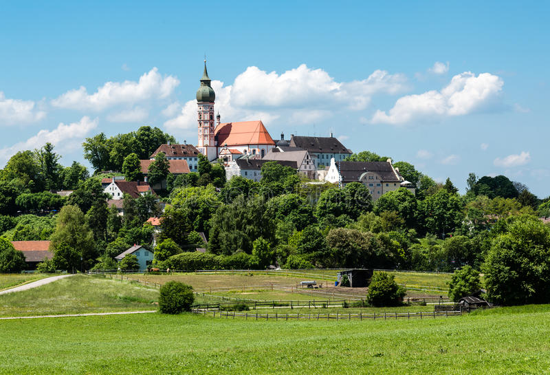 Download Abbey of Andechs stock photo. Image of abbey, village - 33439960