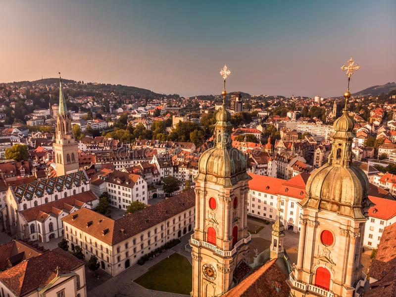Abbey Cathedral of Saint Gall royalty free stock image