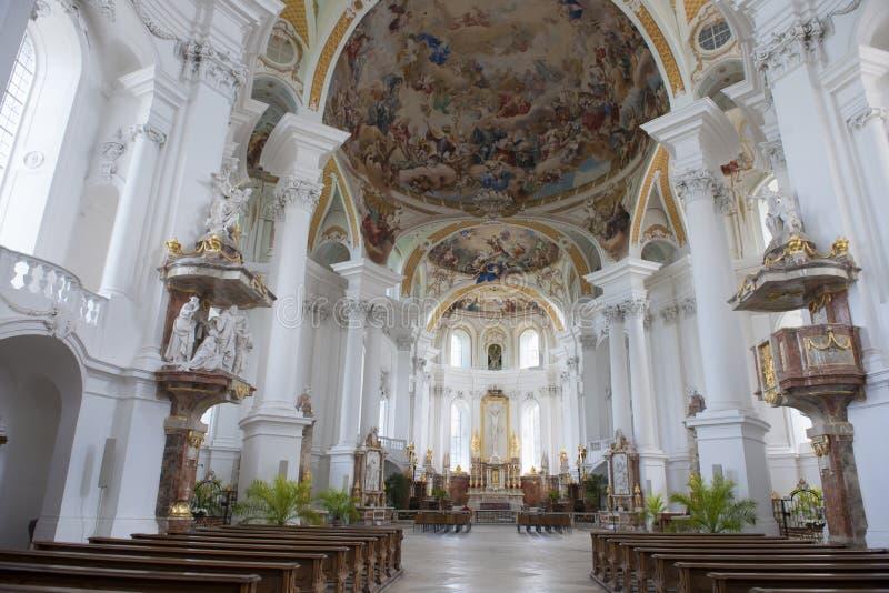 Abbey Church Neresheim arkivfoton