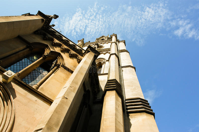 The Abbey Church of Saint Peter and Paul in Bath royalty free stock image