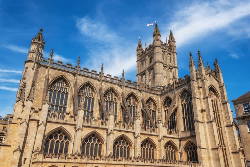 The Abbey Church of Saint Peter and Saint Paul, Bath, commonly known as Bath Abbey, Somerset England UK. stock photos
