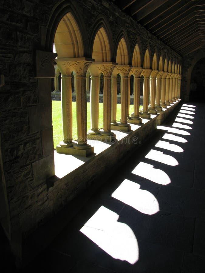 abbey cloisters iona obraz stock