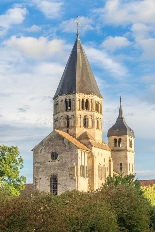 Cluny - France. The Abbey of Cluny - France stock images