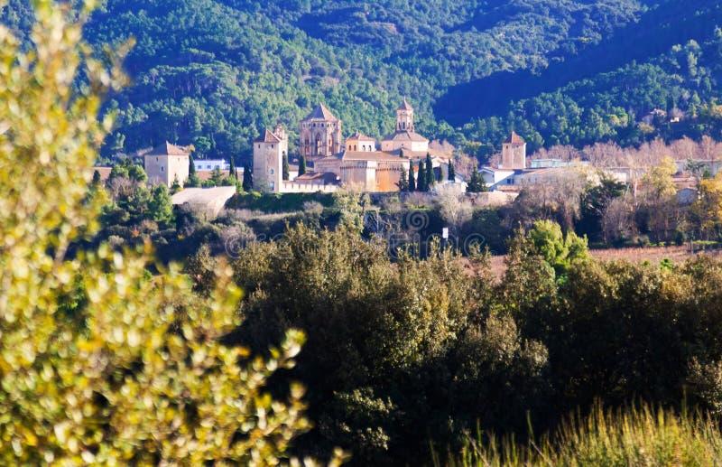abbey de玛丽亚poblet皇家圣诞老人 卡塔龙尼亚 库存照片