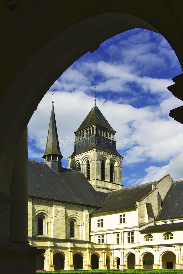 Abbey DE Fontevro, Frankrijk royalty-vrije stock foto's